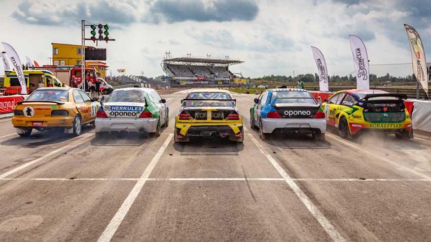Fotografia sportowa - Mistrzostwa Polski Oponeo Rallycross na Torze Słomczyn